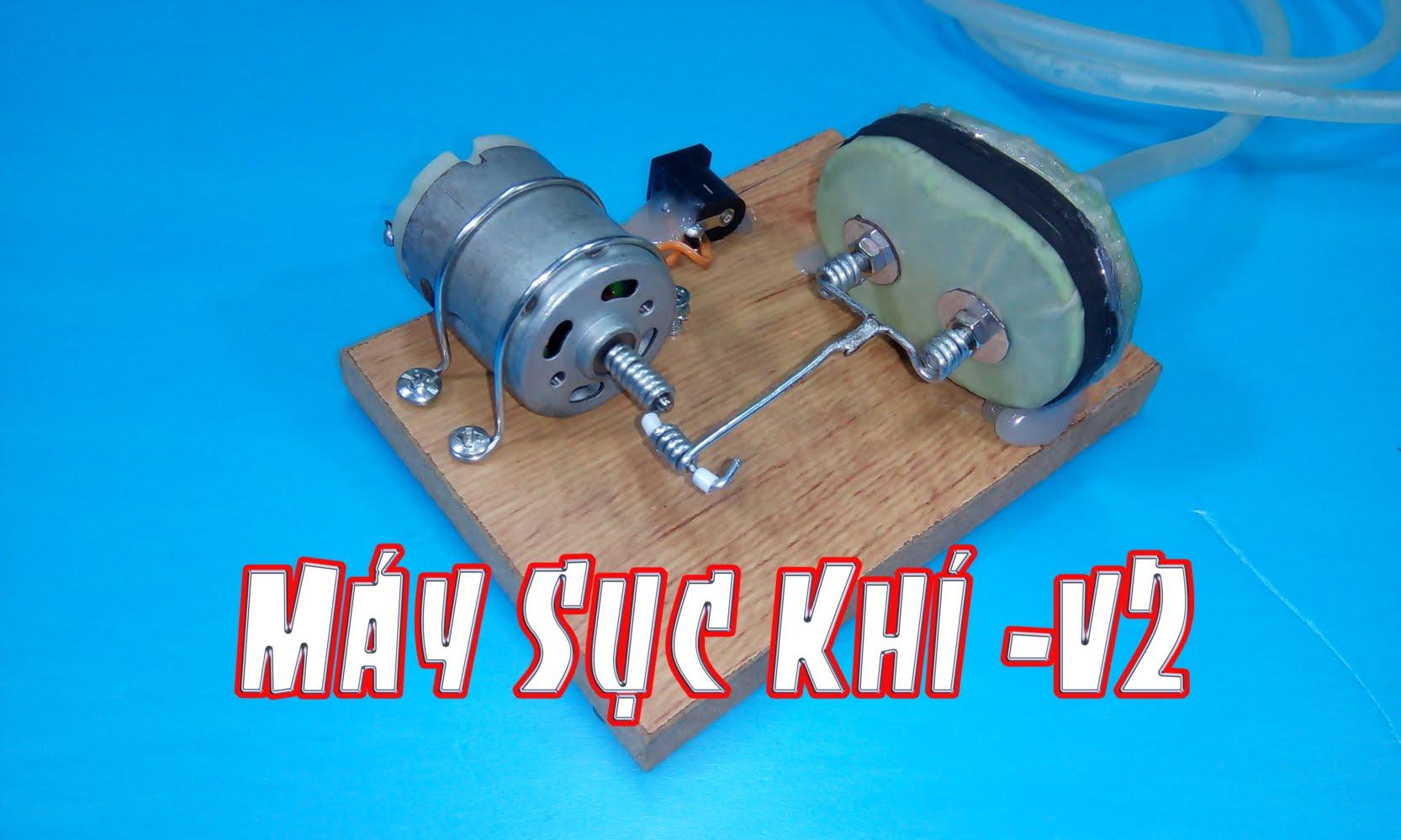 Ứng dụng của máy bơm hơi mini 5V là dùng để sục khí trong bể cá